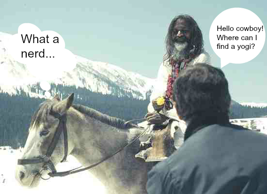 maharishi and horse