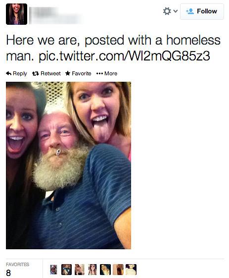 selfie uteliggare och flickor